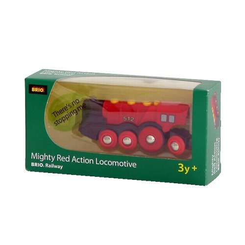 Brio Mighty Red Locomotive With New Autostop And Start Function - Great Addition For Any Collection Jouets, Jeux, Enfant, Peu, Nourrisson
