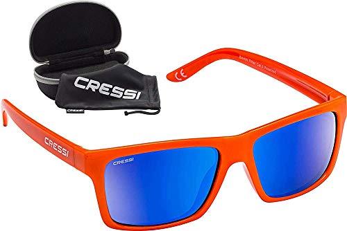 Cressi Bahia Flotantes Sunglasses Gafas De Sol Deportivo, Unisex adulto, Naranja/Azul Lentes espejados