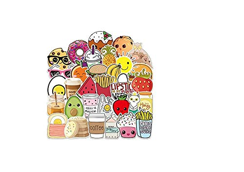 votgl stickersSerie Cartoon Voedsel Stickers Voor Chidren Toy Waterdichte Sticker Stickers Om Diy Koffer Laptop Fiets 100 stks
