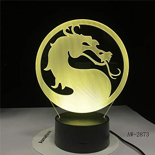 Kopf drehen Drachen Illusion Touch Sensor Kinder Geschenk Nacht verrückt Nachtlicht Schreibtisch Dekoration Tischlampe