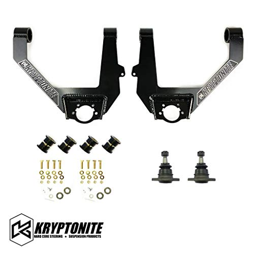 Kryptonite Heavy Duty Upper Control Arm Kit KRUCA13 Compatible with 2014-2018 Chevrolet Silverado & GMC Sierra 1500 2WD/4WD Trucks (FACTORY ALUMINUM OR STAMPED STEEL CONTROL ARMS ONLY!)