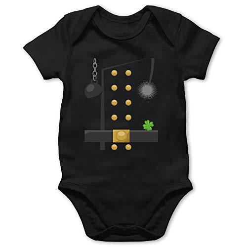 Shirtracer Karneval und Fasching Baby - Schornsteinfeger Kostüm - 1/3 Monate - Schwarz - Baby Schornsteinfeger - BZ10 - Baby Body Kurzarm für Jungen und Mädchen