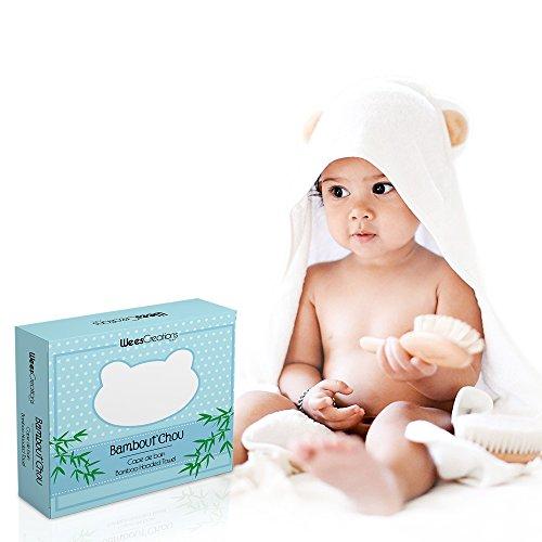 Bambout'chou By WeesCreations Cape de bain Extra Douce | 100% Bambou | Antibactérien et Hypoallergénique | Ultra Large | Taillée pour Bébé et Enfants