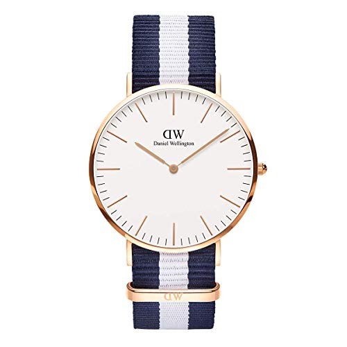 Daniel Wellington Classic Glasgow Rose Gold Watch, 40mm, Nato, for Men and Women