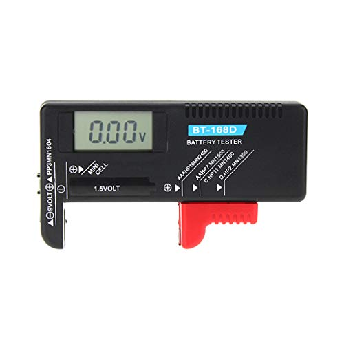 Haven shop BT168D Digitaler Batterie-Kapazitätsprüfer LCD für 9 V 1,5 V AA AAA Cell C D Batterien, universeller digitaler Batterietester