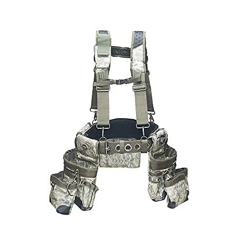 Bucket Boss 3 Bag Tool Bag Set with Suspenders in Digital Camo,...