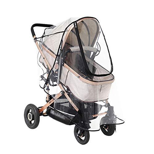 Kapokilly Housse De Pluie pour Poussette, Four Seasons Universal Baby Cover Housse De Pluie Baby Carriage Transparent Raincoat Cover Windproof