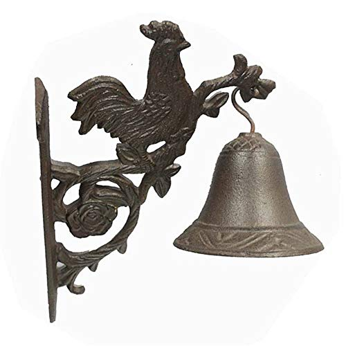 Vintage Bell Cast Iron Wandmontage Cast Iron Wall Opknoping Bell Rooster Shape deurbel Retro Home Garden wanddecoratie Wall Mounted Voordeur Bell voor Garden Farmhouse Yard