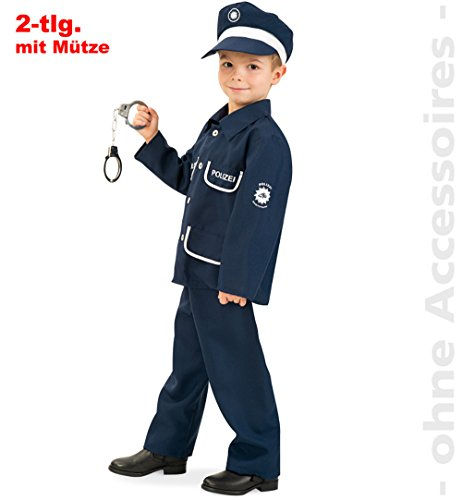 Fries 20404 Polizist Petersen 2-teilig mit Mütze Gr. 104