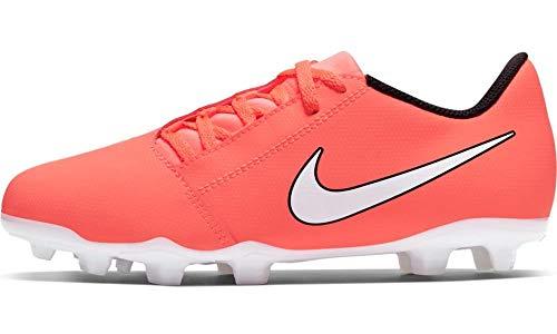 Nike Jr. Phantom Venom Club Fg, Scarpe da Calcio Bambini Unisex-Bimbi 0-24, Mango Brillante/Bianco/Antracite, 33 EU