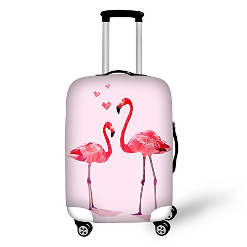 Luggage Cover Flowers,Pretty Flamingo Pattern Keeps Your Travel Suitcase Clean and Protects,Suitable for All Models (L (26'-30' Cover))