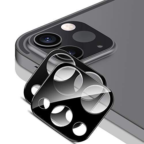 ESR カメラフィルム iPad Pro 11とiPad Pro 12.9 (2021 2020) 9H強化ガラス 保護傷に強い 3D全面保護カメラレンズフィルム- ブラック 2枚入り