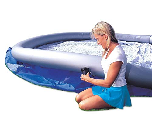 Bestway 57267E Fast Set Up 8ft x 26in Outdoor Inflatable Round Above Ground Swimming Pool with 330...