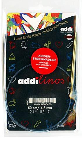 addi Knitting Needle Linos Circular Skacel Blue Cord 24 inch (60cm) Size US 08 (5.0mm)
