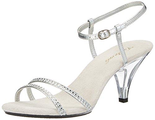 Higher-Heels PleaserUSA Sandaletten Belle-316 Silber Gr.39