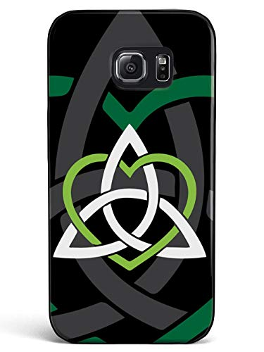 Inspired Cases - 3D Textured Galaxy S7 Case - Rubber Bumper Cover - Protective Phone Case for Samsung Galaxy S7 - Celtic Sisters Knot - Green - Black