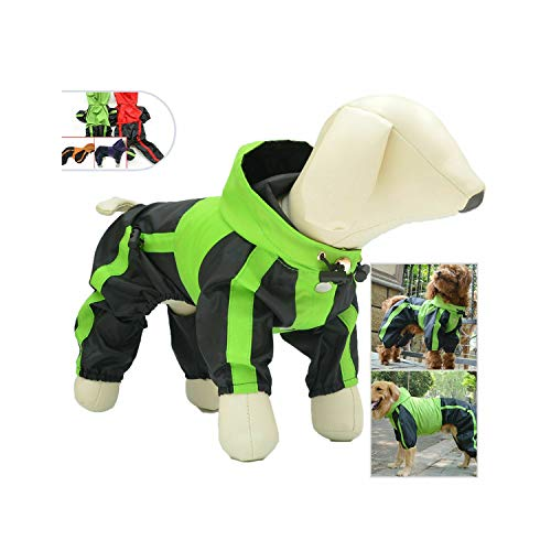 Hopereo Wasserdichter Hunderegenmantel kleidet im Freien Regen-Mantel-Jacken-Mantel-Regen-Hundekleidung, Grün, 4XL