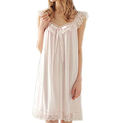 Women's Sleepwear Lace Nightdress Victorian Vintage Nightgown Loungewear Pajamas