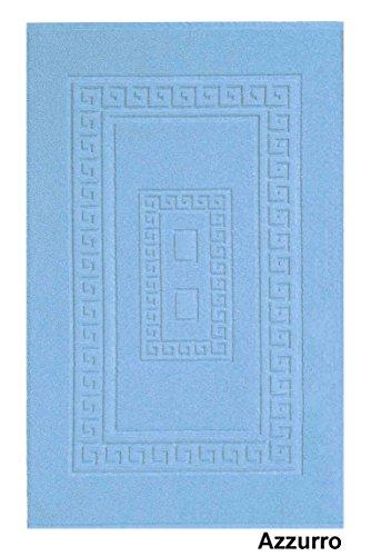 CASA TESSILE Torino Tappeto Bagno scendidoccia in Spugna 45X60 cm. - Azzurro