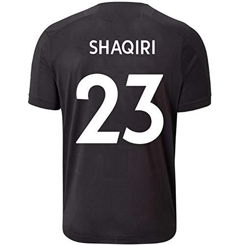 HTQ Xherdan Shaqiri # 23 Fußball-Fan Jersey Kurzarm T-Shirt Schnelltrockenschichtmeister Tops (Color : Black, Size : L)