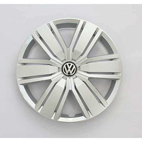 Volkswagen 2N06011471ZX Radzierkappe (1 Stück) Radabdeckung 16 Zoll Stahlfelge Radkappe, feinsilber