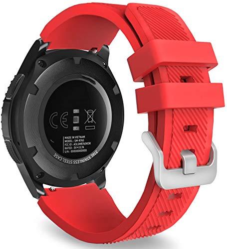 Chainfo Repuesto de Correa de Reloj de Silicona Compatible con Garmin Vivoactive 4, Caucho Fácil de Abrochar para Relojes y Smartwatch (22mm, Pattern 5)