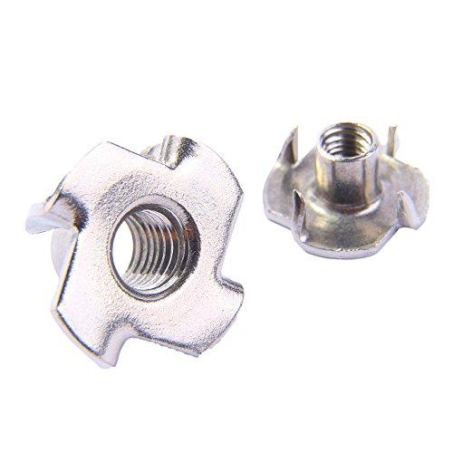 Einschlagmuttern M6 Edelstahl A2 (10 Stück) - Gewinde-Schlagmuttern Einpressmuttern V2A