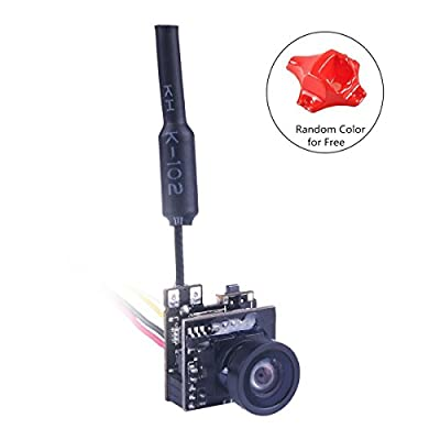 HankerMall FPV Micro AIO Camera 5.8G 40CH 25mW Video Transmitter VTX Switchable Raceband Support OSD FOV 150°for FPV Drone like Blade Inductrix Tiny Whoop etc