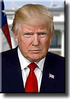 President Donald Trump Official Portrait Picture on Stretched Canvas Wall Art Décor, Ready to Hang!