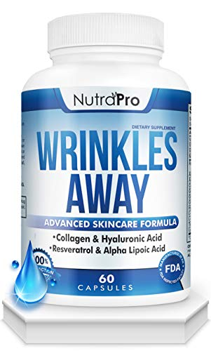 41J lh7izwL - Skin Vitamins To Reduce Wrinkles and Fine Lines. The Only Skin Supplement With Collagen, Resveratrol and Hyaluronic Acid Together To Renew Skin by NutraPro. | Launch Special Price |