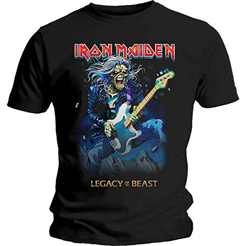 Iron Maiden - Legacy of The Beast Eddie on Bass T-Shirt, Schwarz, L