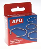 APLI 451 - Caja con 20 anillas metálicas (20 mm)