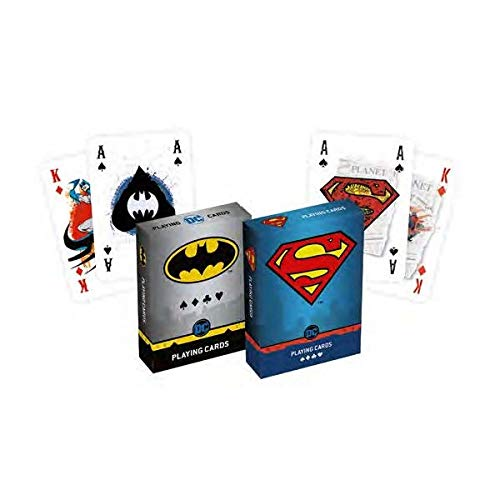 Cartamundi Duopack Playing Cards da Collezione Batman & Superman