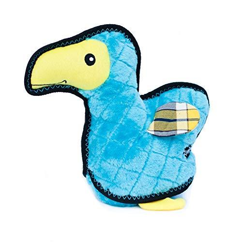 ZippyPaws - Z-Stitch Grunterz Durable Stuffed Squeaky Dog Toy - Dodo The Dodo Bird