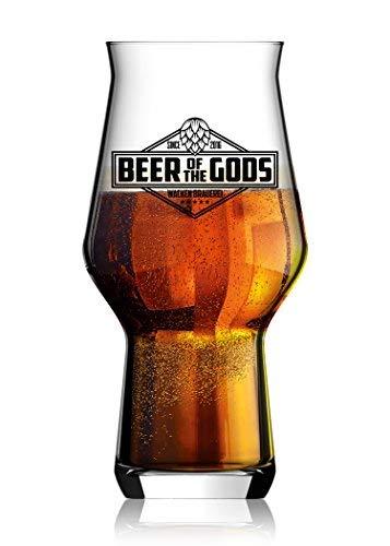 WACKEN BRAUEREI Craft Beer Tasting Geschenkset 5 x 0,33 l verschiedene Sorten + Bierglas BEER OF THE GODS | Eine Handvoll Götter | Viking Craftbeer Set Gift for Men | Wikinger Geschenk Männer - 4