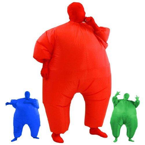AirSuits Aufblasbares Fett Dick Kleid Fasching Zweite Haut Anzug Karneval Luftschiff Kostüm - ROT …