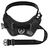 Bolux Over Head Dog Harness, Easy On and Off Pet Vest Harness, Reflective Breathable and Easy Adjust Pet Halters with Nylon Handle for Small Medium Large Dogs, Black, M