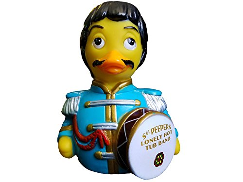 CelebriDucks Sargent Peepers Lonely Hot Tub Band - Premium Bath Toy Collectible - Pop Rock Music Themed - Perfect Present for Collectors, Celebrity Fans, Music, and Movie Enthusiasts