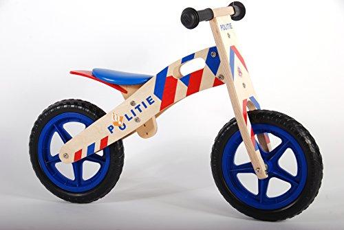 Yipeeh Vélo d'équilibre en Bois avec pneus Eva Bleu