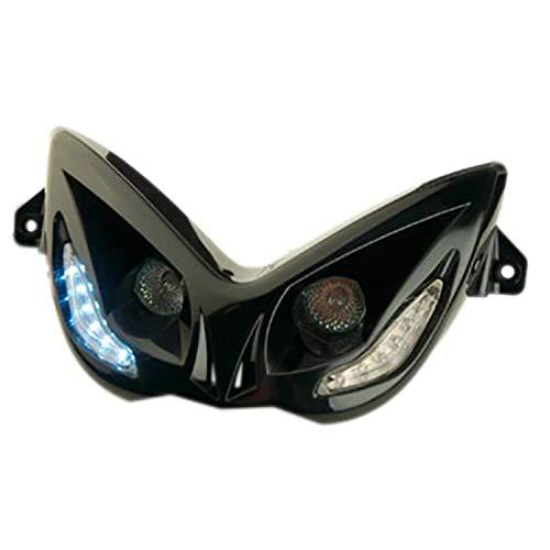 Optik Nitro / Aerox R8 Halogen 2x20W + LEDs - schwarz