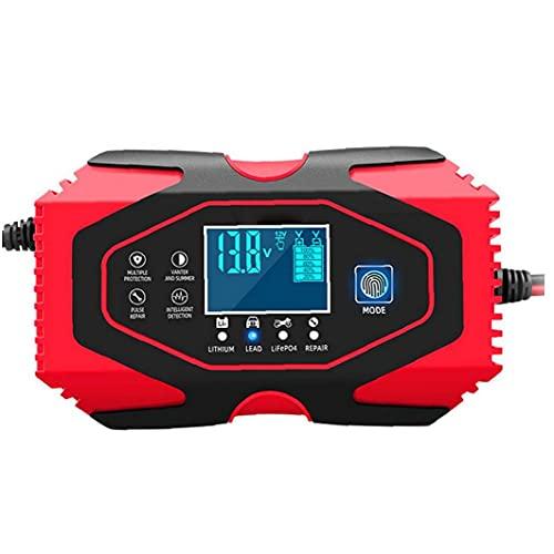 Gracy Cargador de batería de Coche de 12V 24V Mantenedor automática Mantener y Reparar con Pantalla LCD más Tipos de vehículos