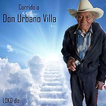 Corrido a Don Urbano Villa