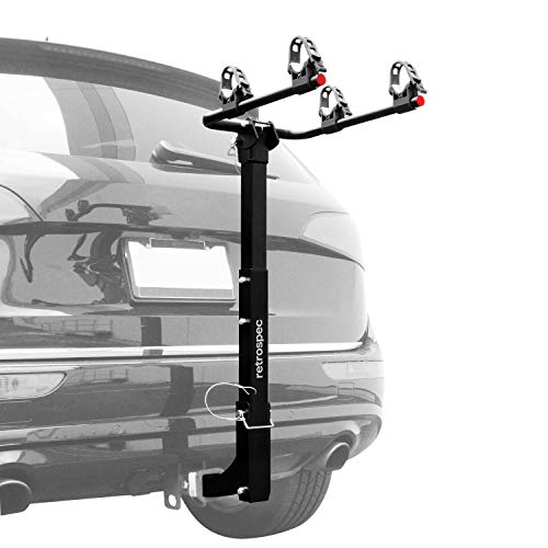 """Retrospec Lenox Car Rack Two Bike Mount Hitch - 2 Bicycle Carrier - Class III or IV 2"""" Hitch -..."""