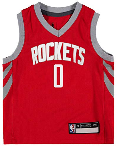 NBA Kids 4-7 Official Name and Number Replica Home Alternate Road Player Jersey (5/6, Russell Westbrook Houston Rockets Red Icon Edition)