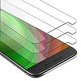 Cadorabo 3X Película Protectora para Huawei Nexus 6P en Transparencia ELEVADA - Paquete de 3 Vidrio Templado (Tempered) Cristal Antibalas Compatible 3D con Dureza 9H
