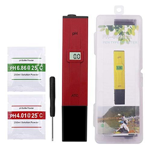 WAHSBAG Pluma estilográfica, bolígrafo de Bolsillo Prueba de Agua ATC Medidor de pH Digital Probador PH-009 IA 0.0-14.0pH Acuario