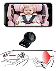 Casoda 2021 Latest Wireless Baby Car Camera for Android-iPhone Crystal Clear View Infant in Rear Facing Back Seat Support Video and Photo Perfect Night Vision Easy to Watch Baby's Every Move