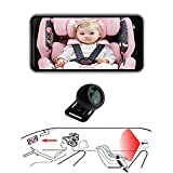 Casoda 2021 Latest Wireless Baby Car Camera for Cell Phone Crystal Clear View Infant in Rear Facing Back Seat Support Photo-Video Perfect Night Vision Easy to Watch Baby's Every Move