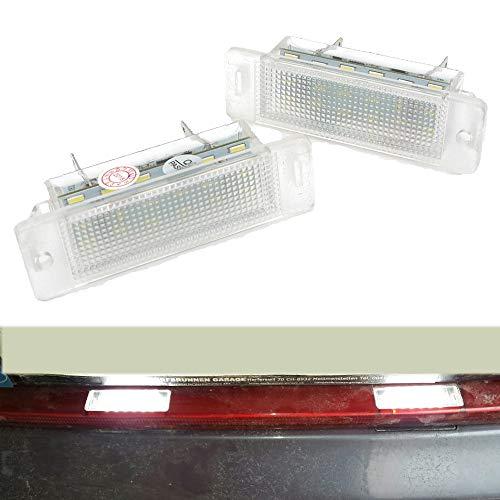 PolarLander 1Pair 6000K Blanc Conduit numéro Lampe Plaque d'immatriculation
