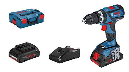 Bosch Professional 18V System GSB 18V-60 C - Taladro percutor a batería (60 Nm, 1900 rpm, conectable, 2 baterías ProCORE x 4,0 Ah, en L-BOXX)